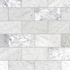 Bianco Carrara Honed Marble Tile - 6 x 12 - 100403401 Honed Marble, Marble Tiles, Marble Floor, Bathroom Floor Tiles, Shower Floor, Tile Floor, Marble Bathrooms, Wall Tile, Silver Bathroom