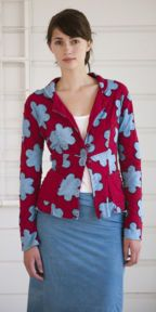 Alabama Chanin Little Flowers Fitted Blazer  Anna Maria Horner Collaboration.