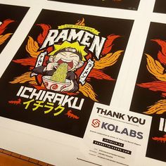 Another collaboration in the books! First prints headed to @piqgifts Thank you @artbyjp for working with me again on our #naruto inspired #ramen label #art #design #graphicdesign #artist #etsy #etsyshop #indie #artwork #anime #manga #noodles #funny #lol #illustration #cartoon #ninja #narutoshippuden #fox