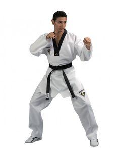 Taekwondo Anzug Starfighter mit schwarzem Revers