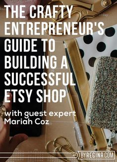 Getting Started on Etsy: The Crafty Entrepreneur's Quick Guide to Building a Successful Shop The complete toolbox that gives you everything you need to start a profitable online business! Craft Business, Creative Business, Online Business, Business Tips, Business Marketing, Business Opportunities, Business Cards, Business Motivation, Business Website