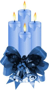 Blue Christmas Candles with Dark Blue Bows and Silver Bells Merry Christmas To You, Christmas Paper, Blue Christmas, Christmas And New Year, Winter Christmas, Christmas Time, Chrismas Cards, Blue Candles, Christmas Candles