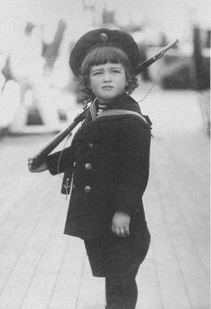 Tsarevich Alexei, little soldier boy