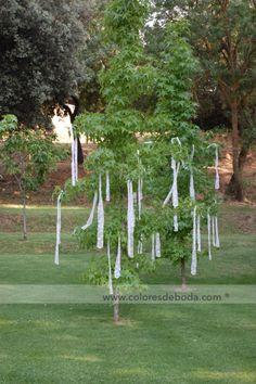 Arboles con cintas de encaje #bodascdb