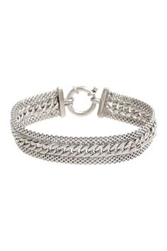 18K White Gold Plated Sterling Silver Chain Bracelet on @nordstrom_rack
