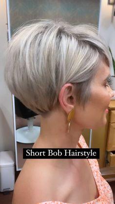 Short Hair Styles For Round Faces, Short Thin Hair, Short Grey Hair, Short Hair With Layers, Short Hair Cuts For Women, Medium Hair Styles, Modern Short Hair, Short Stacked Hair, Bob Hairstyles For Fine Hair