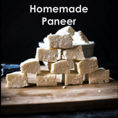 This paneer recipe includes a simple video tutorial on How to Make Paneer at Home. With this easy recipe make your best Homemade Paneer each time. Paneer Cheese Recipes, Easy Cream Cheese Recipes, Easy Paneer Recipes, Indian Food Recipes, Indian Snacks, Homemade Cottage Cheese, Cottage Cheese Recipes, Homemade Cheese, Kefir