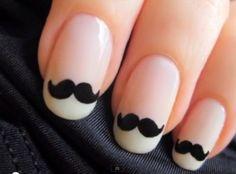 Moustache nails!  So rad.