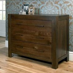 Lyon Walnut 3 Drawer Wide Chest is part of the extensive range of Lyon Walnut bedroom furniture which includes beds, nightstands,chest of drawers and wardrobes. Walnut Bedroom Furniture, Dark Wood Furniture, Dining Room Furniture Sets, Furniture Direct, Online Furniture, Home Furniture, Black Friday Furniture Sale, Bentley Design, Modern Chest Of Drawers