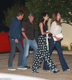 BFFs in the 'Bu: On Friday evening George Clooney and his wife Amal joined  best…