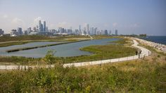 Hills, a pond, wildlife habitats and campgrounds have replaced an airport runway, enhancing the nearby Museum Campus, writes Tribune critic Blair Kamin. Habitats, Pond, Wildlife, Chicago, River, Caftans, Mountains, Architecture, Kaftans