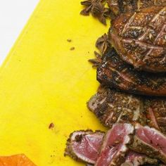 Seared duck breast with blood orange and star anise - Ottolenghi recipe Duck Recipes, Meat Recipes, Gourmet Recipes, Cooking Recipes, Healthy Recipes, Game Recipes, Savoury Recipes, Yotam Ottolenghi, Recipes