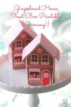 giveaway_gingerbread house printable treat box