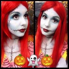sally nightmare before christmas makeup tutorials google search family halloween costumes christmas costumes - Sally Nightmare Before Christmas Makeup