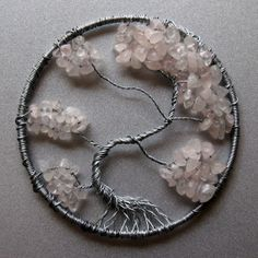 Smokey Rose Quartz Tree of Life Pendant by EternalCreativity, $30.00
