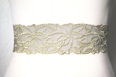 Wide Lace Bridal Sash Belt  Wedding Belts Dress by NAFEstudio