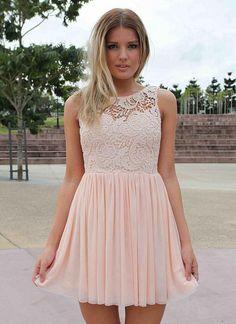 Lace Dress Light Pink