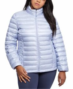 Plus Size Light Blue Down Packable Puffer Jacket Women's. Women's Light Blue Winter Puffer Coat Plus Size. 32 Degrees lavender blue plus size puffer coat designed with a cozy fill and stand collar.