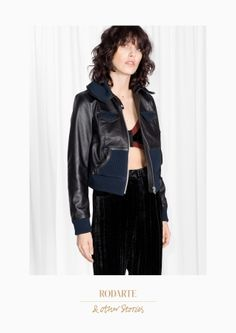 & Other Stories | Rodarte Cropped Leather Jacket