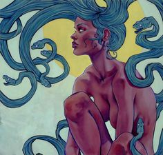 Illustration/Painting/Drawing inspiration. Medusa, very pretty