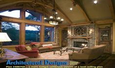 House Plans With Great Rooms Hearth Vaulted Ceilings
