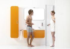 Hollandse glorie met deze oranje badkamer