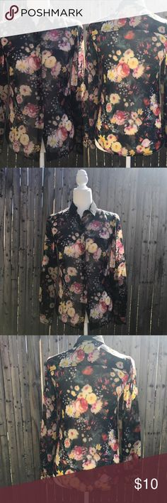 Floral Blouse Gorgeous long sleeve floral blouse Mango Tops Blouses