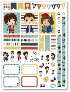Strangers Decorating Kit / Weekly Spread Planner Stickers