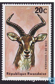 Postage Stamps - Rwanda - Antelopes