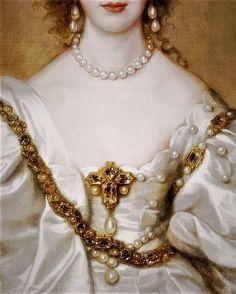 Queen Henrietta Maria by Sir Anthony van Dyck
