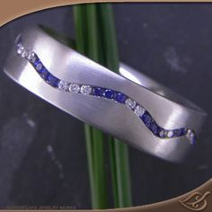 Love this for VGreen Lake Jewelry blue and white wave channel *Platinum* band.