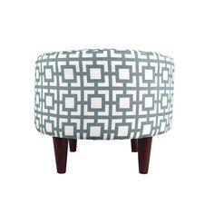 Sophia Gigi Round Ottoman Upholstery Color: Blue/Gray - http://delanico.com/ottomans/sophia-gigi-round-ottoman-upholstery-color-bluegray-602016053/