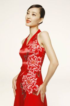 Chinese Peony Pattern Vest Gown Www Goodorient Product Style