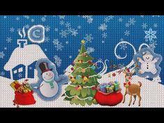 """Рисованная вязаная открытка """"С Новым годом"""""""