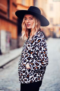 Hat and leopard..