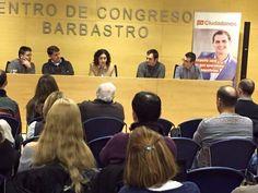 @Cs_Barbastro Presentación de la Junta Gestora provincial de Ciudadanos Huesca, ayer en el Centro de Congresos de Barbastro.