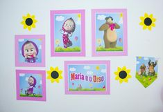 Maria Valentina, Masha And The Bear, Diy Casa, Alice, Frame, Party, Kids Fashion, Home Parties, Picture Frame