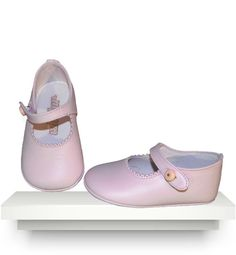 Spanish baby clothes | baby shoes | Pink leather shoes |babymaC  - 1