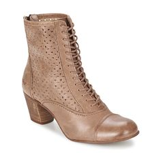 Boots Femme Spartoo, achat pas cher Boots Kickers SECHICBIS Taupe prix promo Spartoo 155.00 €