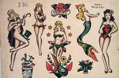 Mermaid tattoos.