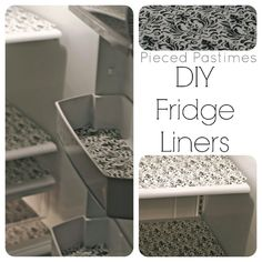 DIY Fridge Liners - I have always used papertowels to freshen the fridge. Why have I never thought of this?