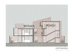 Gallery of Kiki Tulum Housing / Central de Proyectos SCP - 25 Section Drawing Architecture, Architecture Concept Diagram, Architecture Building Design, Architecture Presentation Board, Architecture Collage, Architecture Board, Architecture Graphics, Architecture Visualization, Architecture Portfolio
