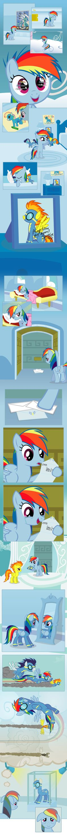 This is so beautiful! At first I didn't know it, but Spitfire got older and passed her outfit onto Rainbow Dash!