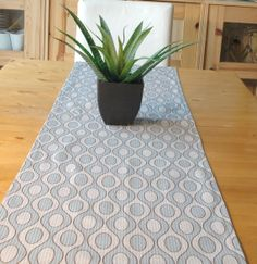 Your place to buy and sell all things handmade Table Dressing, Blue Accents, Light Beige, Table Runners, Fabric Design, Stuff To Buy, Home Decor, Decoration Home, Room Decor