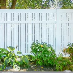 45 backyard privacy fence ideas that enhance safety in style 5 - What You Need To Know About Gardening Vinyl Privacy Fence, Privacy Fences, Diy Fence, Fence Landscaping, Fence Ideas, Vinyl Picket Fence, White Picket Fences, Vinyl Fencing, Lattice Fence Panels