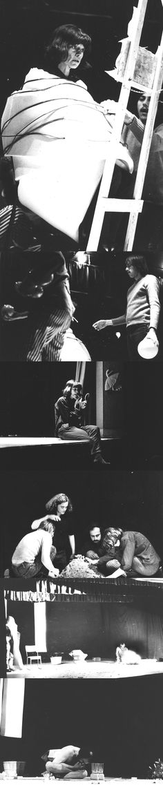 "Performance documentation of ""Match My Strike,"" directed by Jorge Zontal and produced by John Neon, Poor Alex Theatre, Toronto, August 30, 1969, Collection General Idea, photographer unknown. #ArtCanInstitute"
