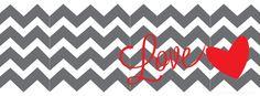 heart love chevron facebook cover