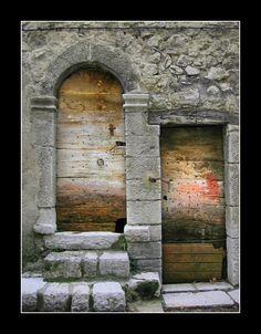 Wooden doors - Les Gorges du Verdon, Provence-Alpes-Cote-dAzur