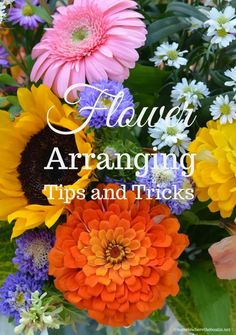 Flower Arranging Techniques, Tips and Tricks using flowers from the garden or grocery store! | ©homeiswheretheboatis.net Floral Centerpieces, Flower Arrangements, Easter Centerpiece, Easter Decor, Peach Dumplings, Apple Fritter Bread, Limelight Hydrangea, Floral Foam, Easter Table