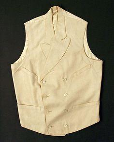 Waistcoat,1910. British, wool,cotton.